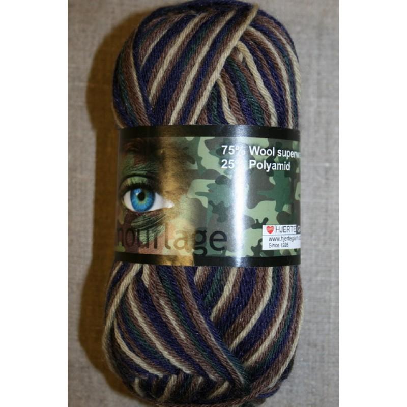 Basic uld/polyamid, Camouflage army/lilla/mørkegrøn-31