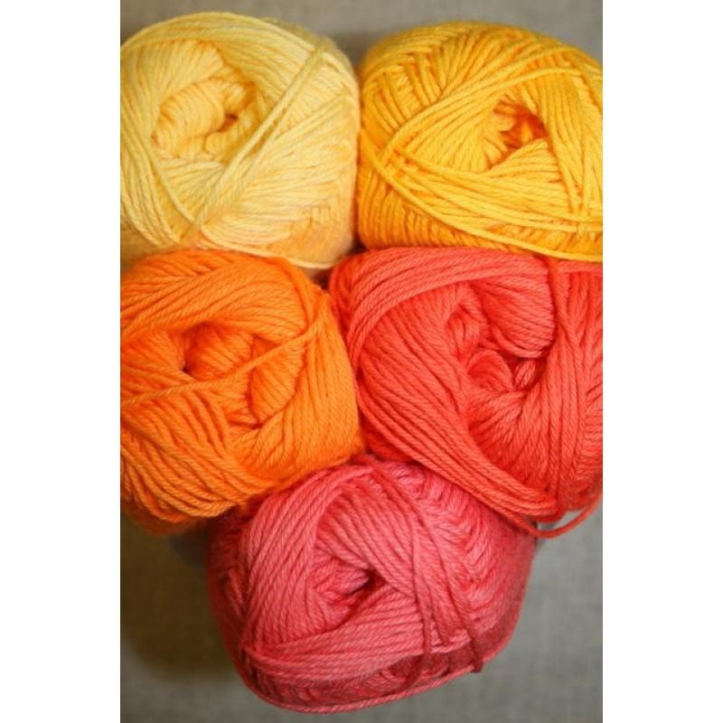Bomuldsgarn Cotton 8 i gul og orange