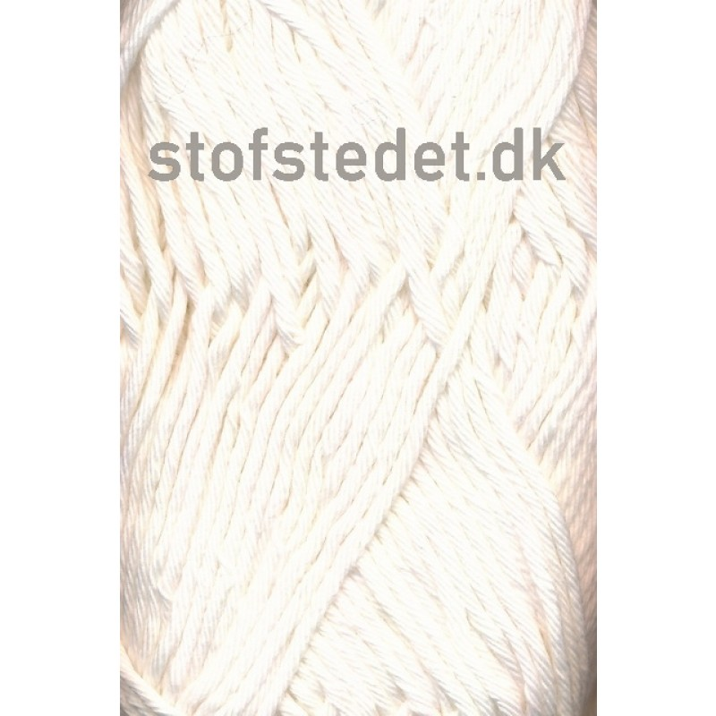 Cotton 8/8 Hjertegarn i Off-white