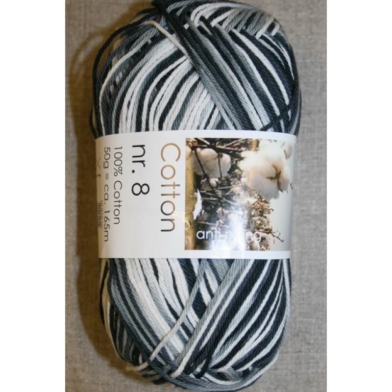 Cotton nr. 8 Print, sort/grå/hvid-33