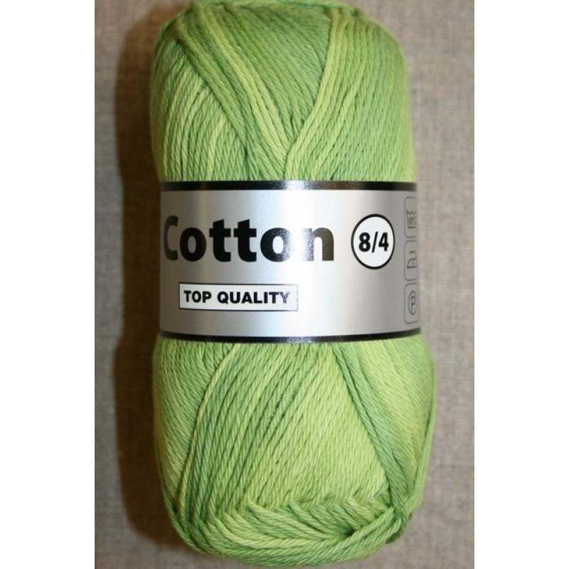 Bomuldsgarn Cotton 8 flerfarvet lime lysegrøn