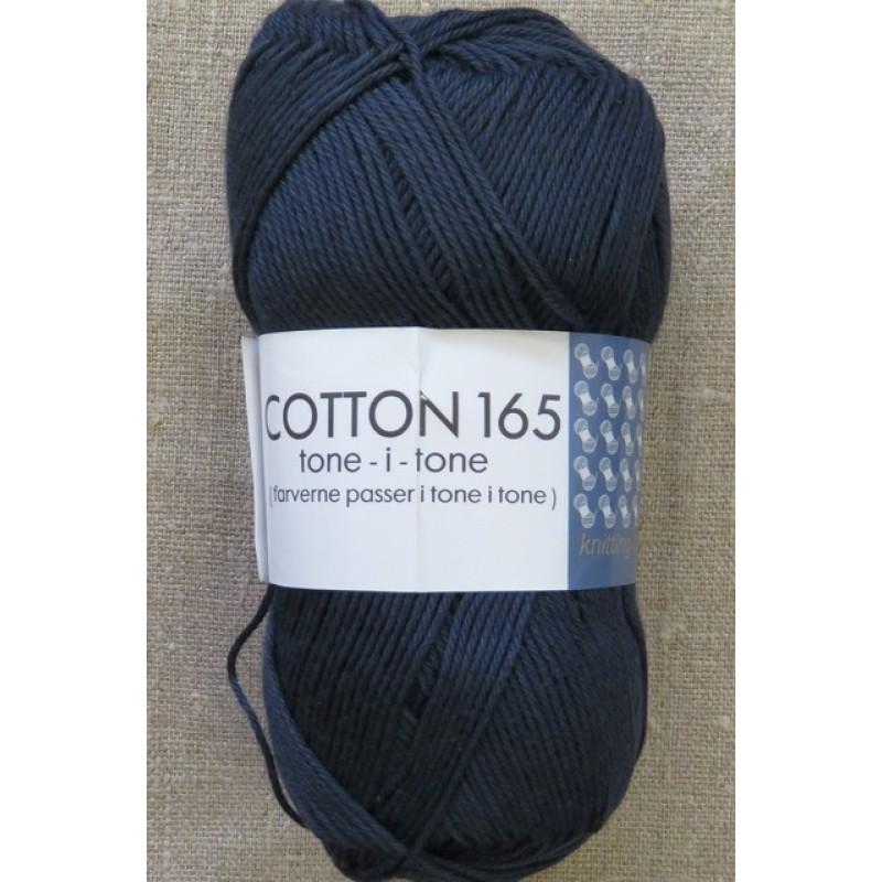 Bomuldsgarn Cotton 165 tone-i-tone i støvet mørkeblå-314