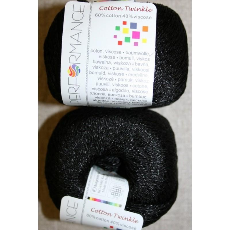 Garn Cotton Twinkle bomuld/viskose i sort-31