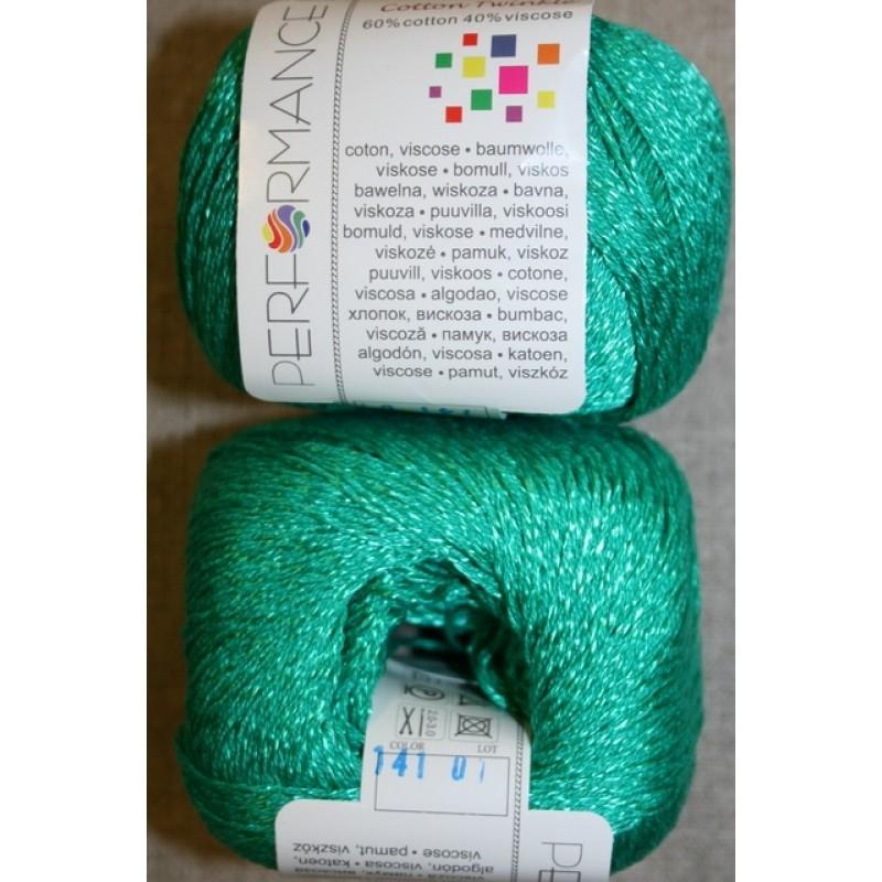 Garn Cotton Twinkle bomuld/viskose i grøn-35