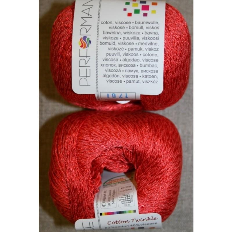 Garn Cotton Twinkle bomuld/viskose i koral-39