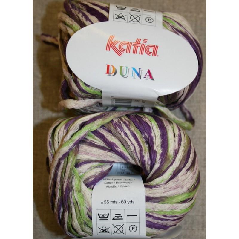 Duna bånd-garn, off-white/lilla/lime-33