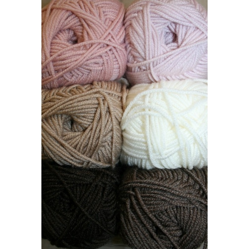 Extrafine Merino 150 brun/off-white/rosa-32
