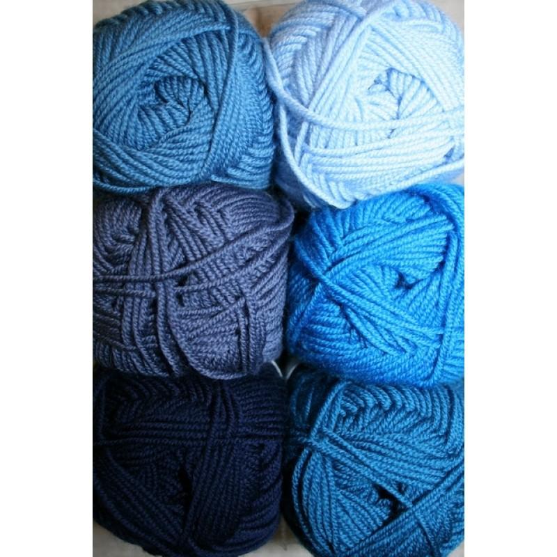 Extrafine Merino 150 blå/turkis-32
