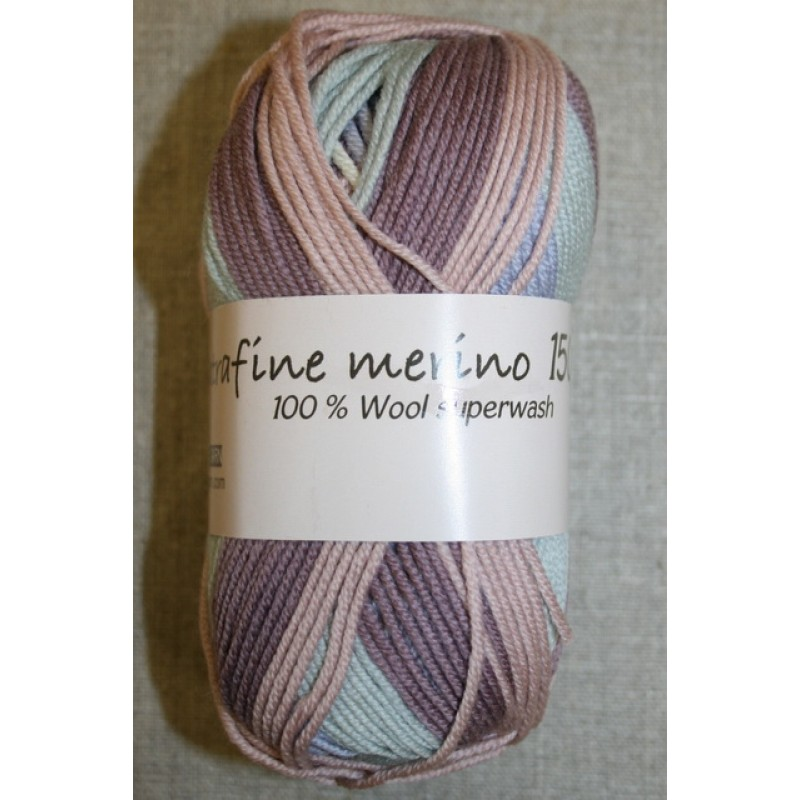 Extrafine Merino 150 print lyng/rosa-33