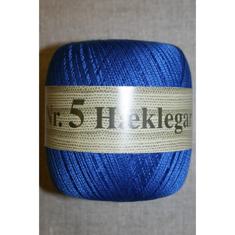 Nr. 5 Hæklegarn, koboltblå