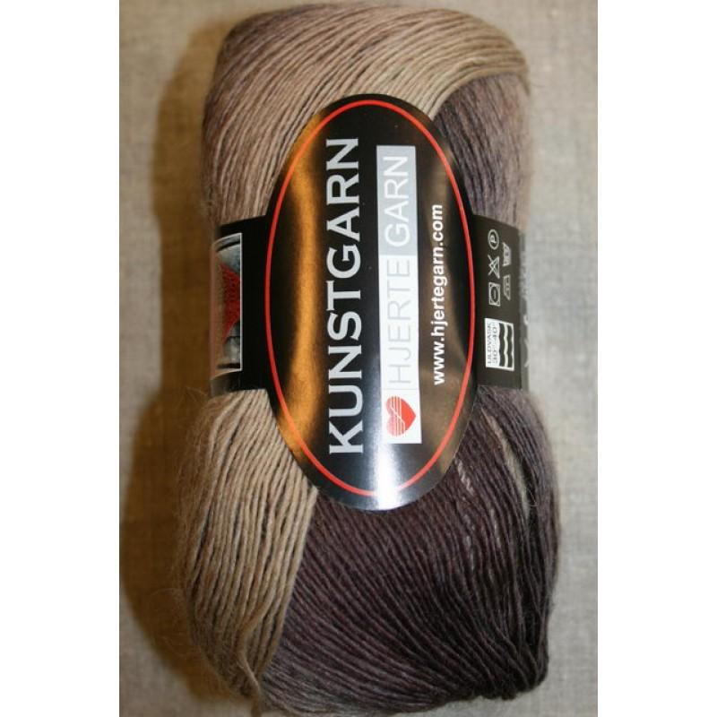 Hjerte Kunstgarn, brun/beige-31