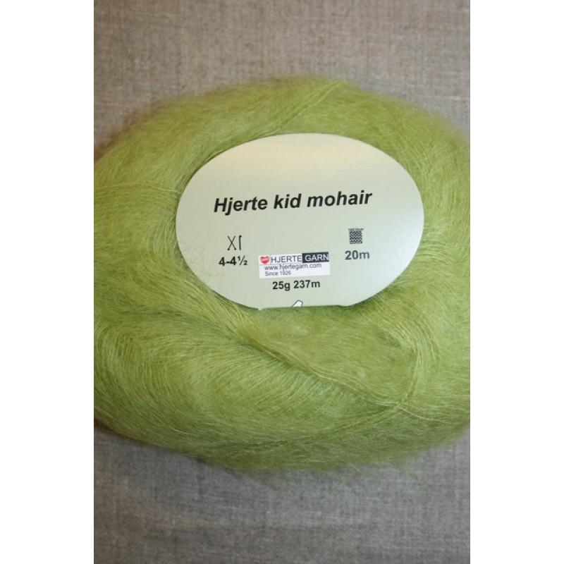 Hjerte Kid Mohair garn lys lime-35