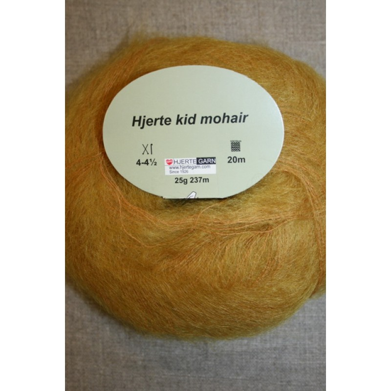 Hjerte Kid Mohair garn carry-gul