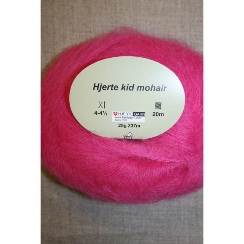 Hjerte Kid Mohair garn pink-35