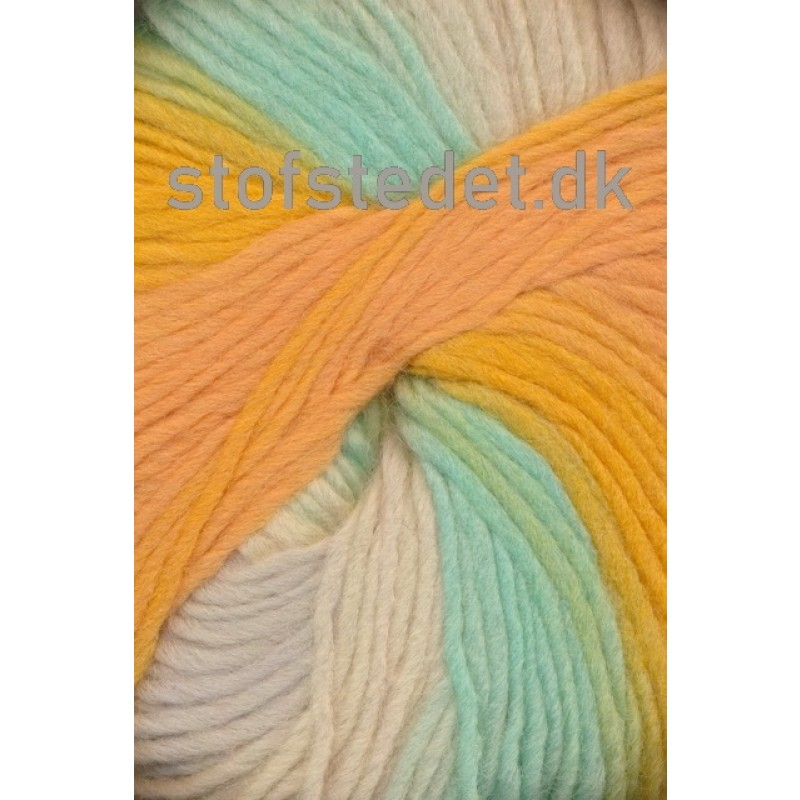 Incawool lys orange/mint/lysegul