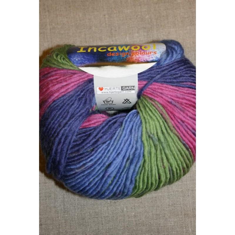 Incawool lilla/pink/lime/blå-30