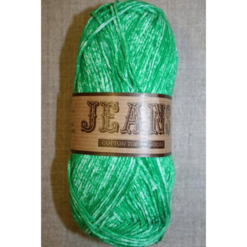 Jeans meleret bomuldsgarn, græsgrøn-33