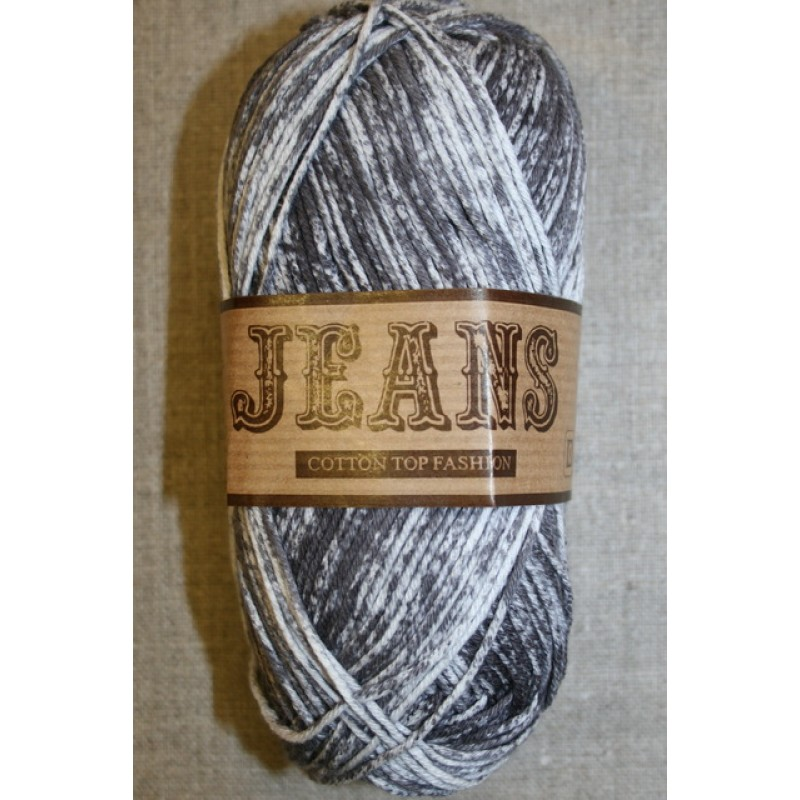 Jeans meleret bomuldsgarn, koksgrå-33