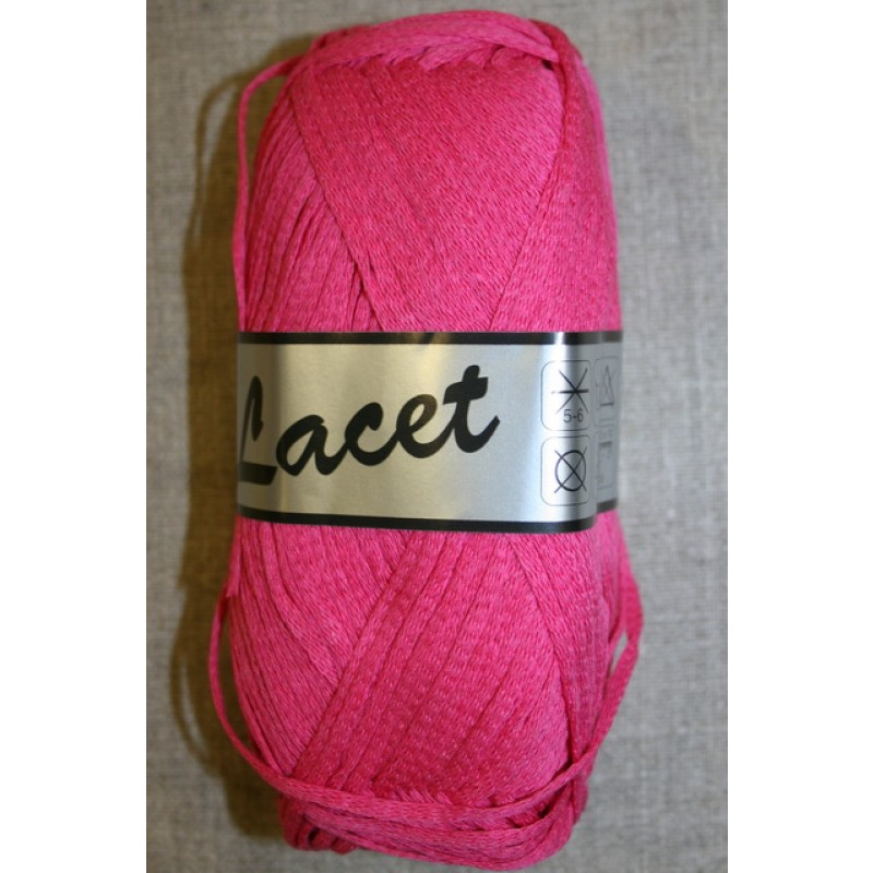 Lacet tubegarn bomuld/acryl, pink-35