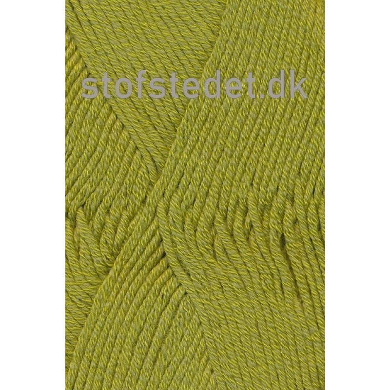 Merino Cotton Uld/bomuld i Lime-33
