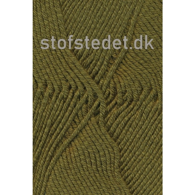 Merino Cotton Uld/bomuld i Army-33