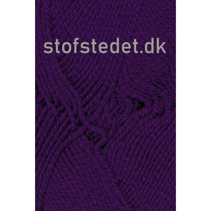 Hjertegarn | Merino Cotton Uld/bomuld i Mørkelilla-33