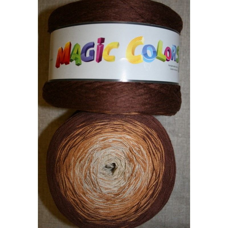 Magic Colors bomuld/acryl brun/lysebrun/sand-33