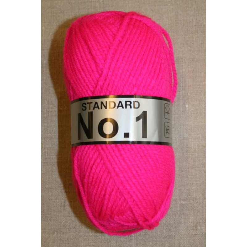 Akrylgarn No 1, neon pink-31