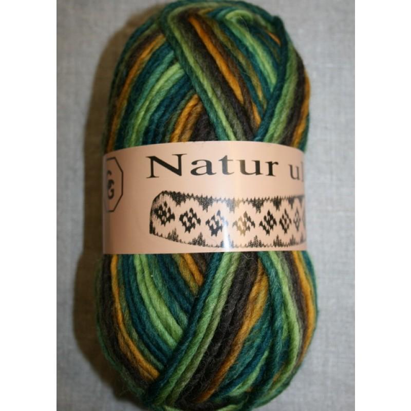 Naturuld print flaskegrøn/brun/carry-31