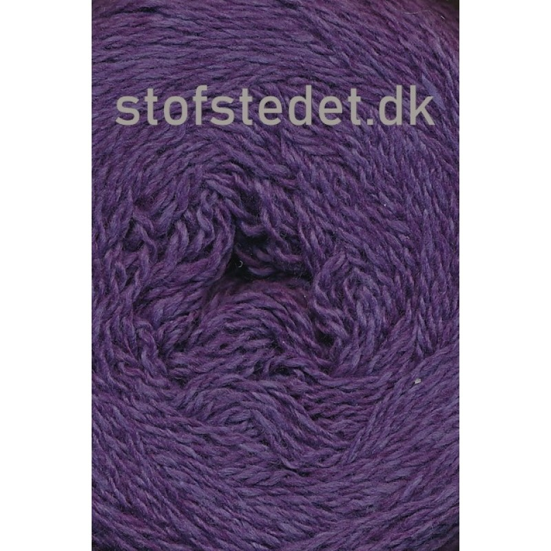 Organic 350 Wool/Cotton Gots certificeret i Mørkelilla