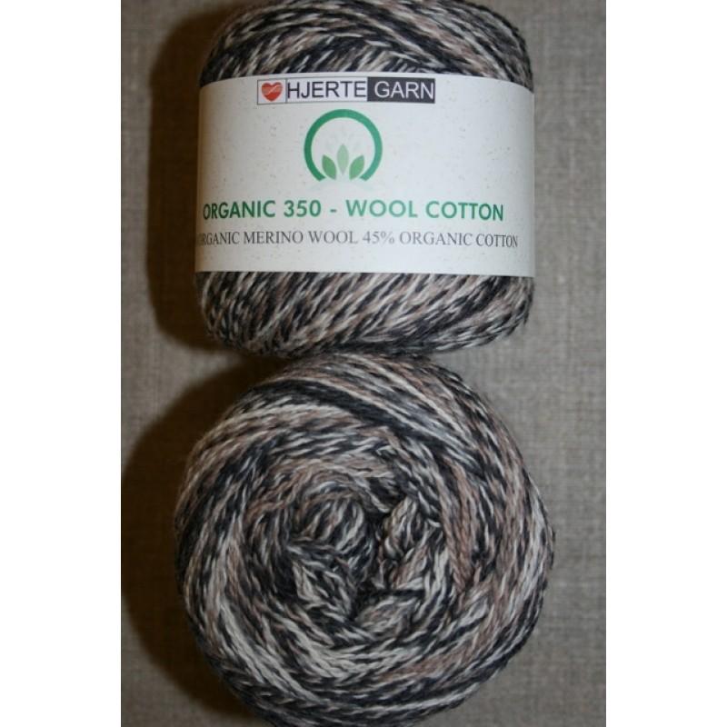 Organic 350 Wool/Cotton Gots certificeret meleret brun-32