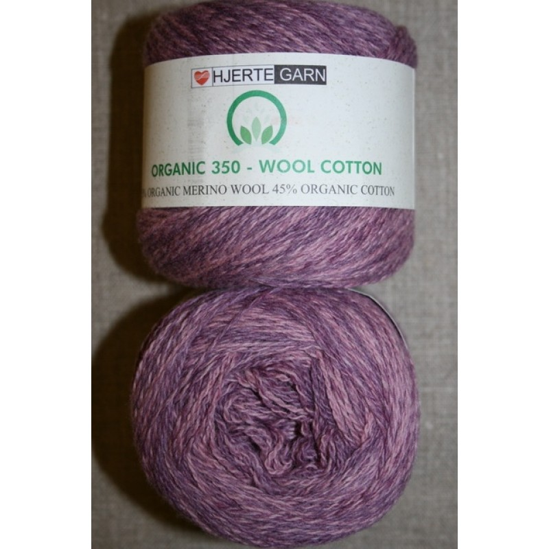 Organic 350 Wool/Cotton Gots certificeret meleret rosa-33