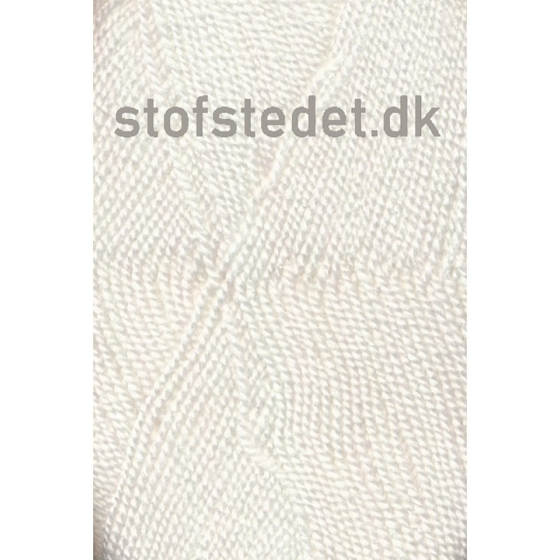 Perle Acryl   Akrylgarn fra Hjertegarn i hvid