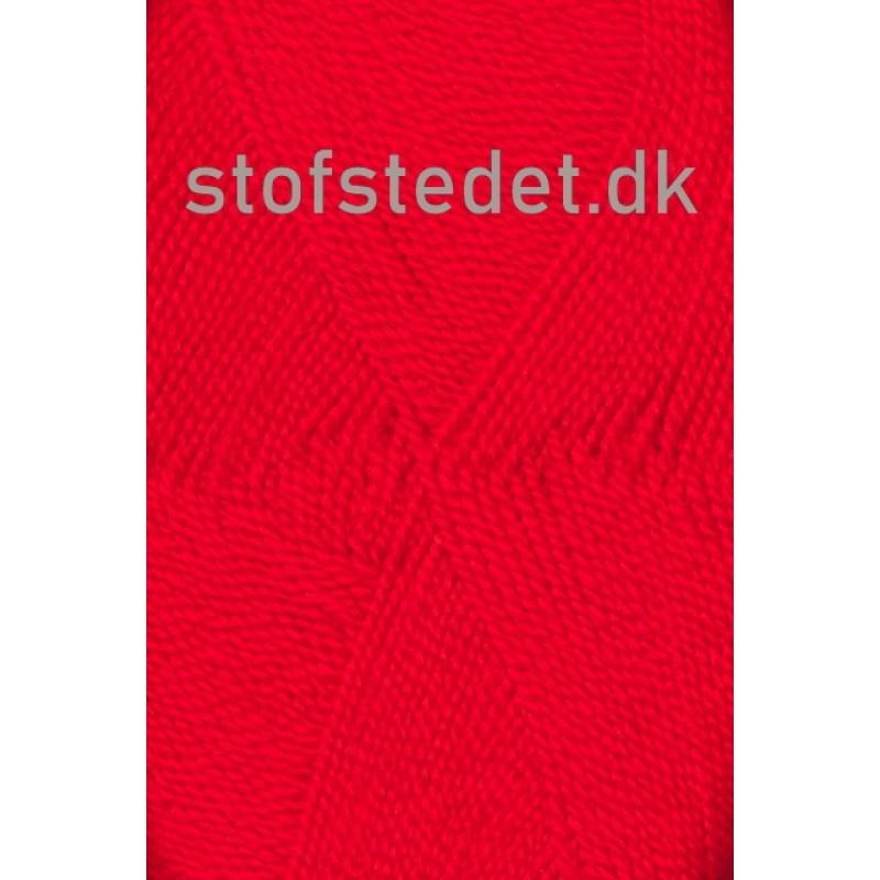 Perle Acryl   Akrylgarn fra Hjertegarn i klar rød