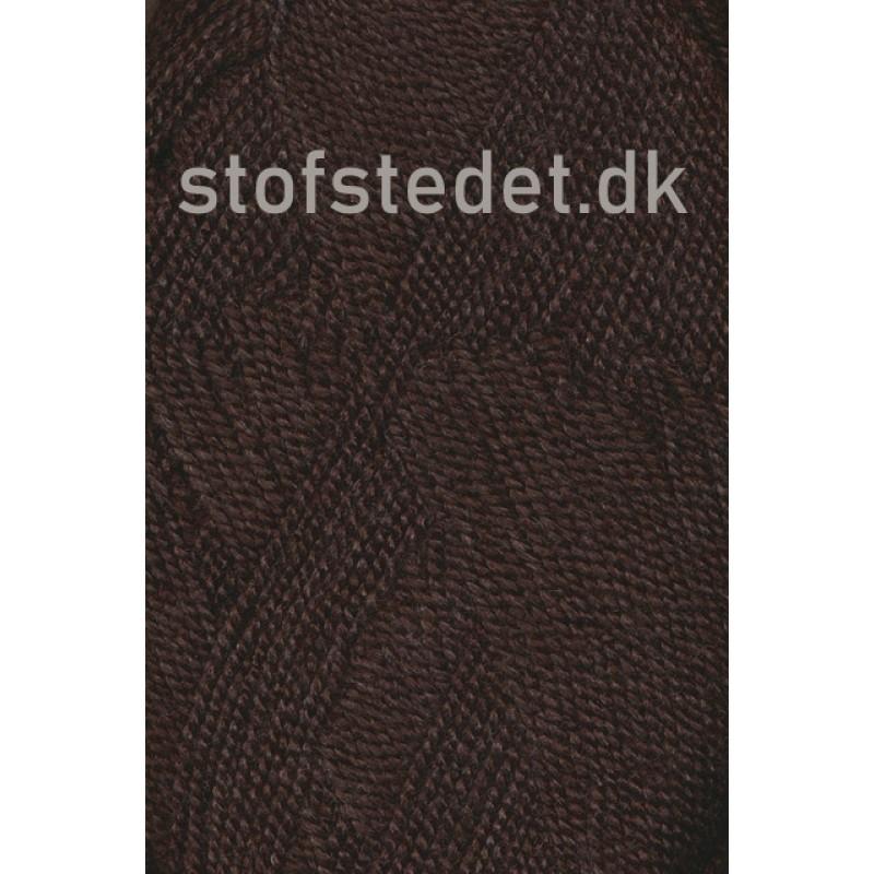 Perle Acryl   Akrylgarn fra Hjertegarn i mørkebrun