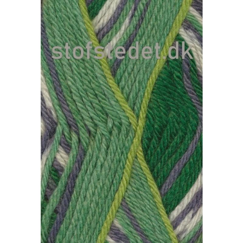 Ragg strømpegarn i lysegrøn, lime, grå og off-white