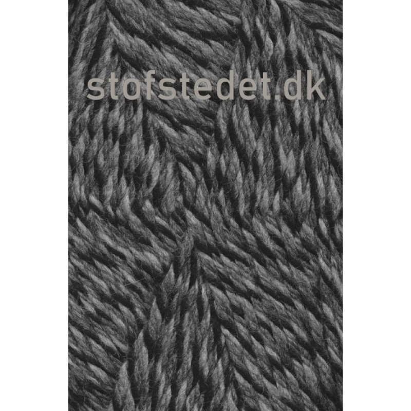 Ragg strømpegarn meleret i grå, lysegrå og sort