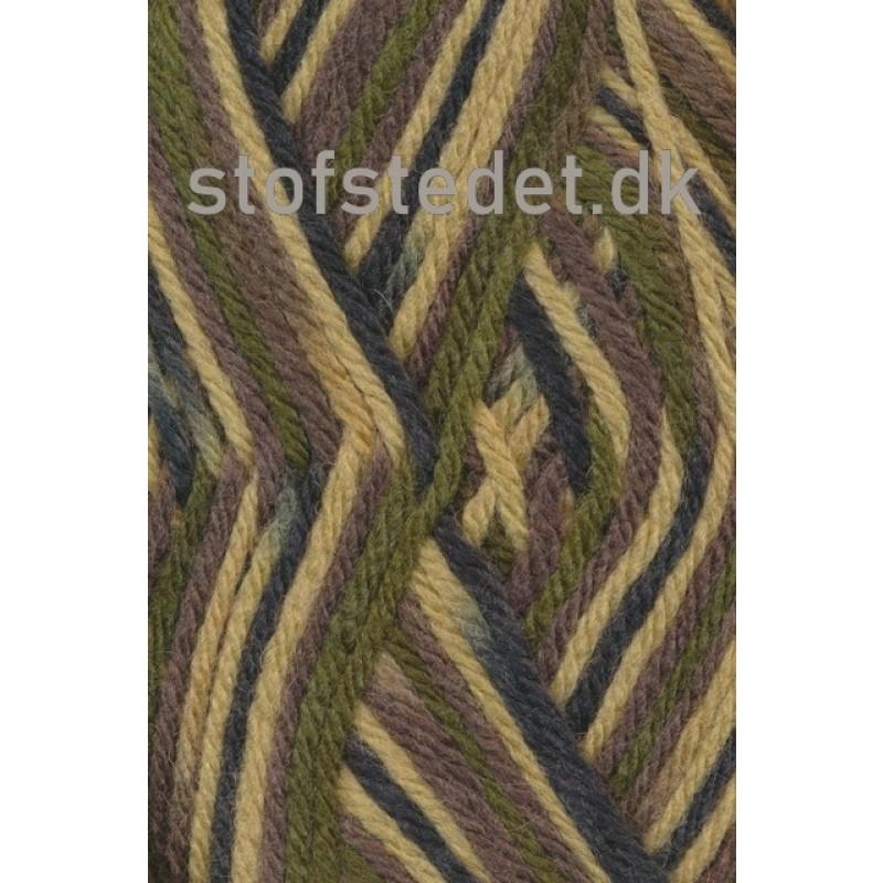 Ragg strømpegarn i Camouflage army, oliven og brun