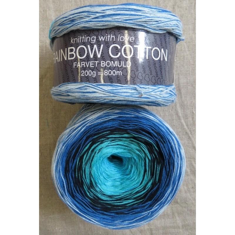 Rainbow Cotton 100% bomuld i aqua turkis klar blå lyseblå-38