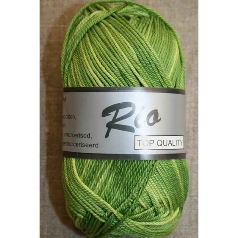 Rio mercerisered bomuld, grøn/lime/lysegrøn