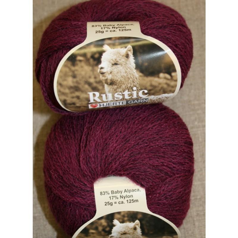 Rustic Baby Alpaca, vinrød/lilla