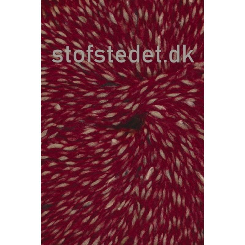 Sauce fra Hjertegarn i mørk rød/beige-338