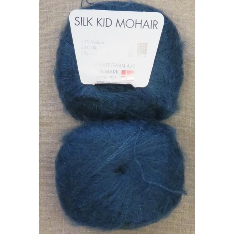 Silk Kid Mohair petrol-blå