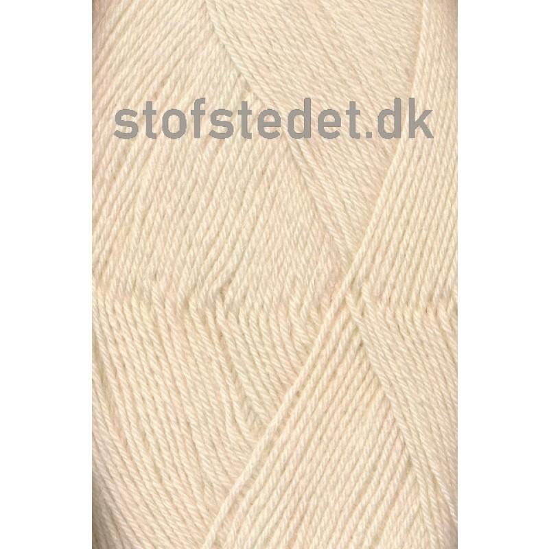 Sock 4 strømpegarn i Off-white   Hjertegarn