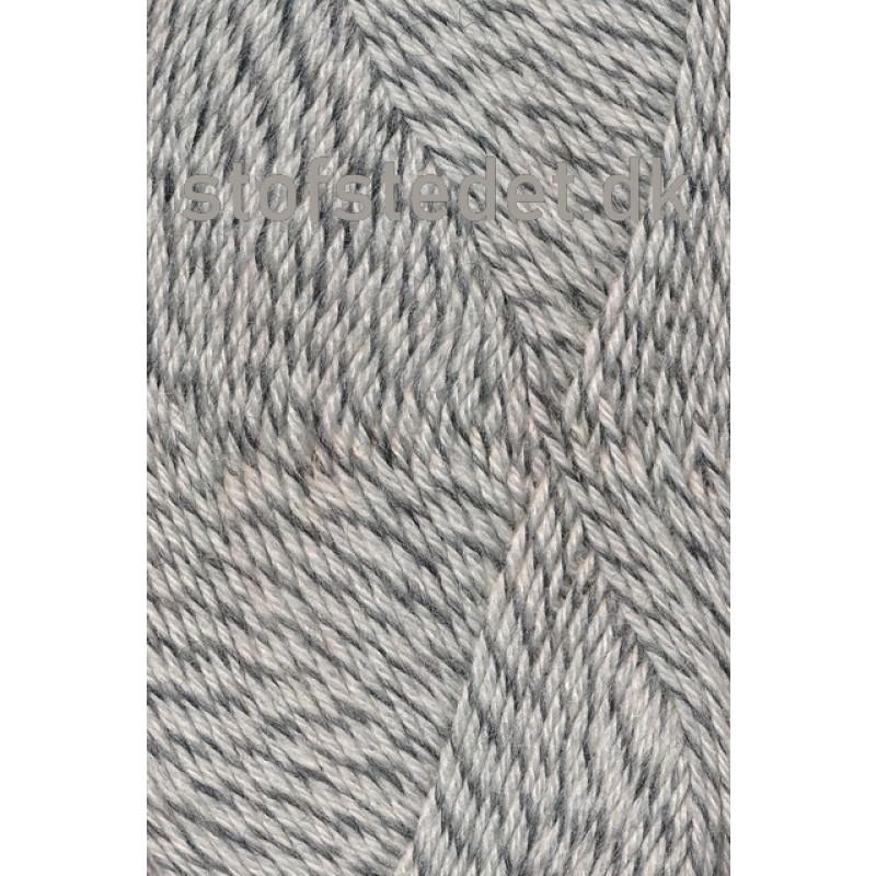 Sock 4 strømpegarn meleret knækket hvid lysegrå-33