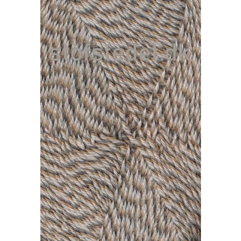Sock 4 strømpegarn meleret lysebrun beige off-white