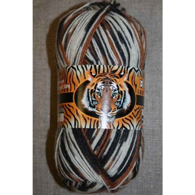 Strømpegarn Safari off-white/gylden-brun/grå-31