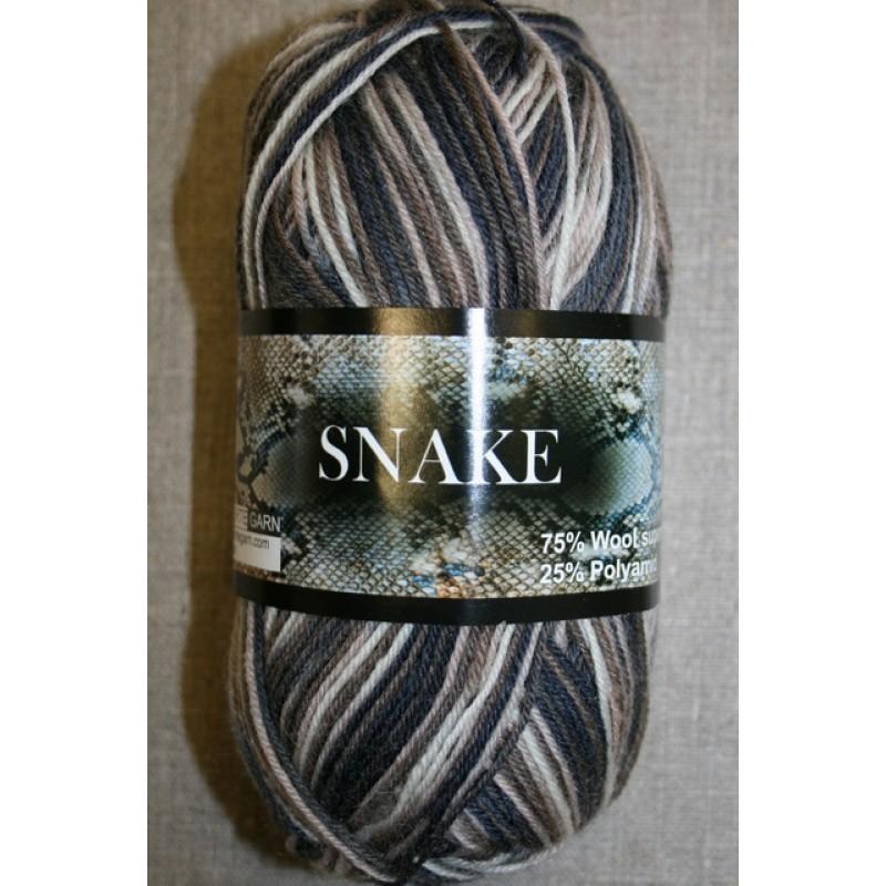 Strømpegarn Snake grå/brun