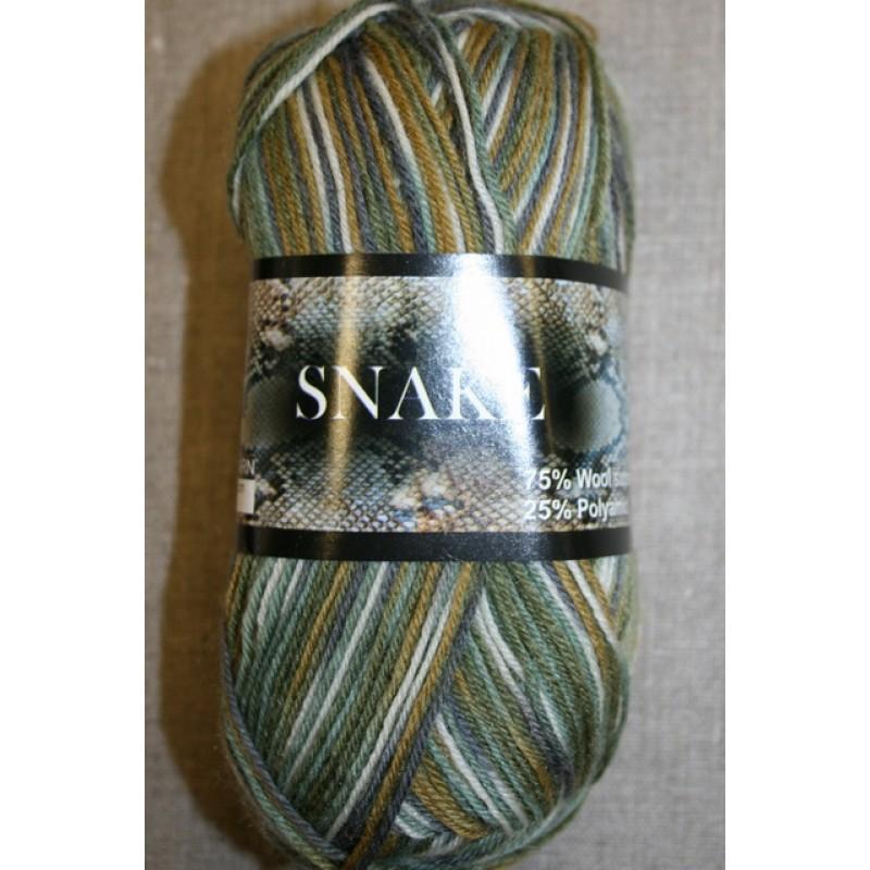 Strømpegarn Snake grøn/off-white-35