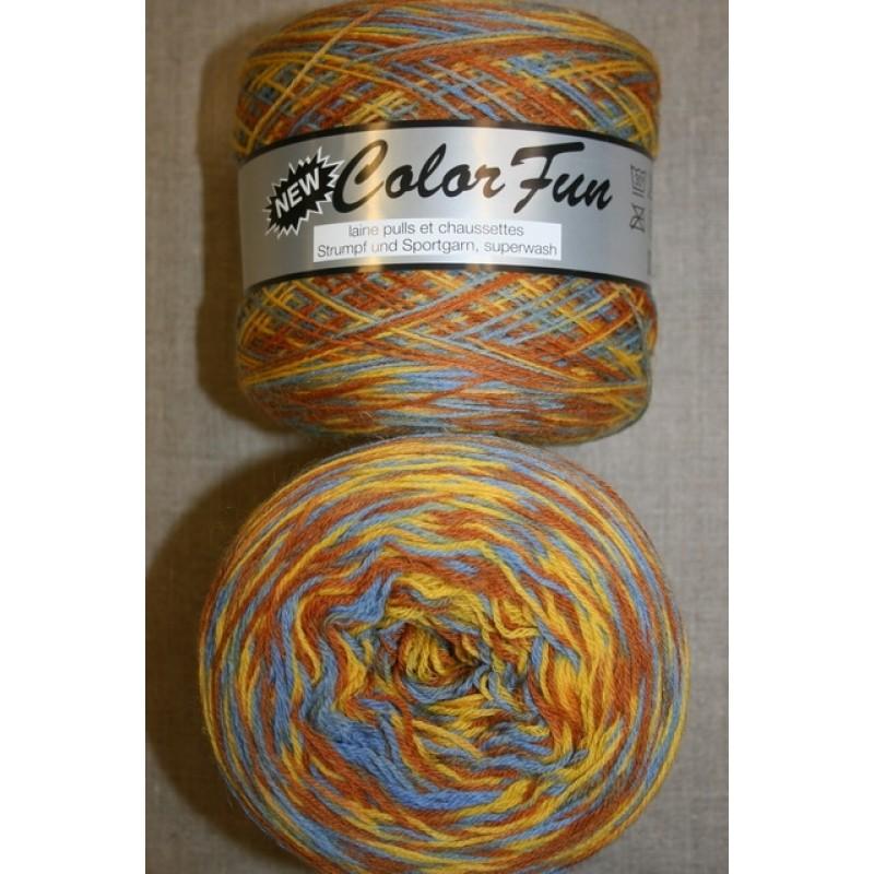 Color Fun strømpe og sportsgarn i print gul lyseblå, 950 meter-37